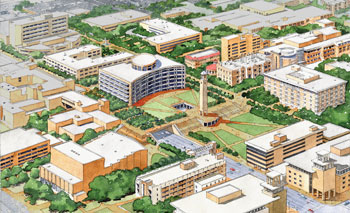 rendering from master plan