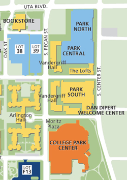 Parking map of UTA