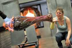 The fiery process of creating glass art