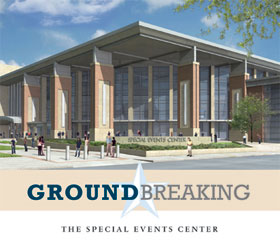 Groundbreaking for the Special Events Center