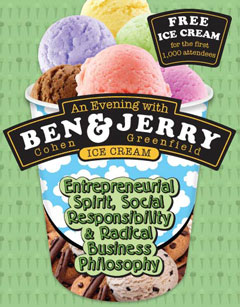Ben and Jerry poster
