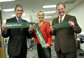 Print center ribbon cutting