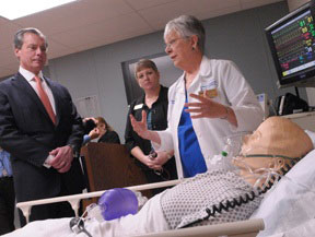 David Dewhurst, Tiffany Holmes and Carolyn Cason at the Smart Hospital