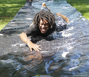 Slip-n-slide Chris Irvin
