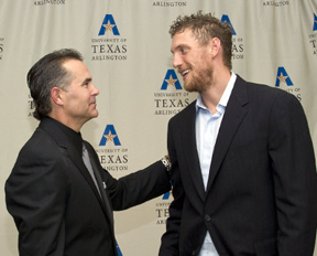 Trey Hillman and Hunter Pence